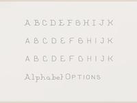 Böckten Alphabet Options