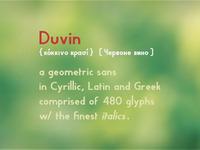 Duvin update