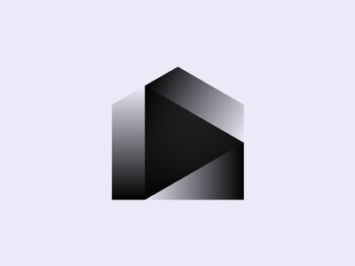 Connected Home ▶ gradient house play icon logo branding