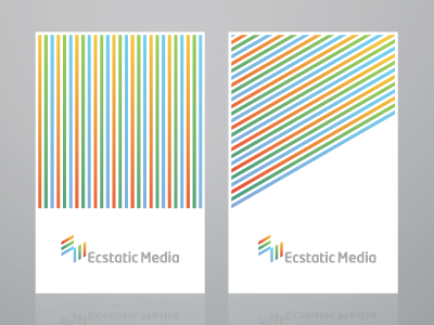 Business card branding logo icon color identity typography stationery lines diagonal