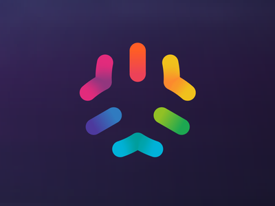 Matrix line hexagon color logo