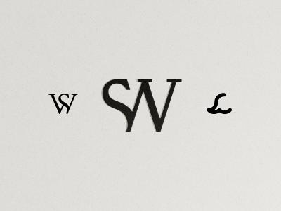 SW Monograms brand identity icon logo branding typography