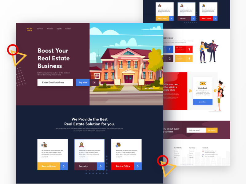 Real Estate Business - Landing Page