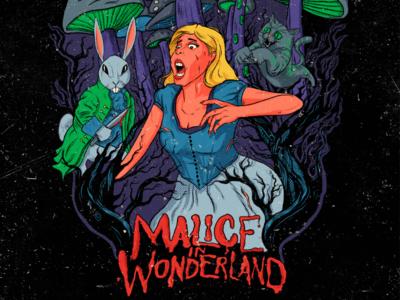 Malice in Wonderland humour horror procreate illustration funny