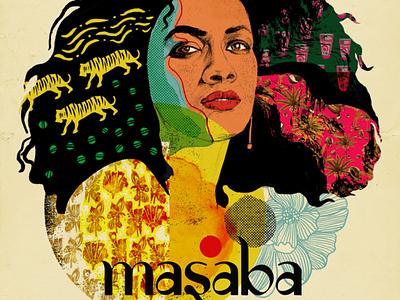 Masaba photoshop graphicdesign collage portrait illustration fashion