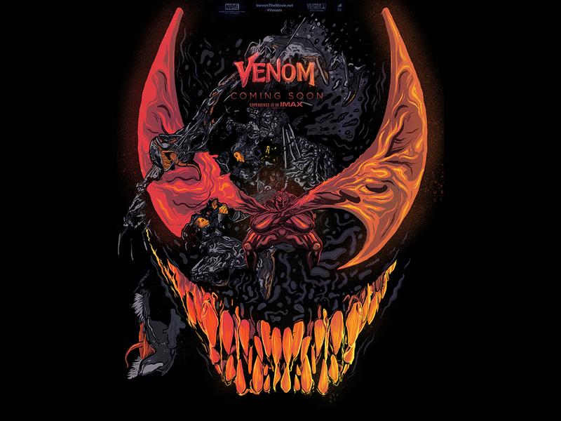 Venom vs Riot movieposter procreate illustration hollywood comics riot venom