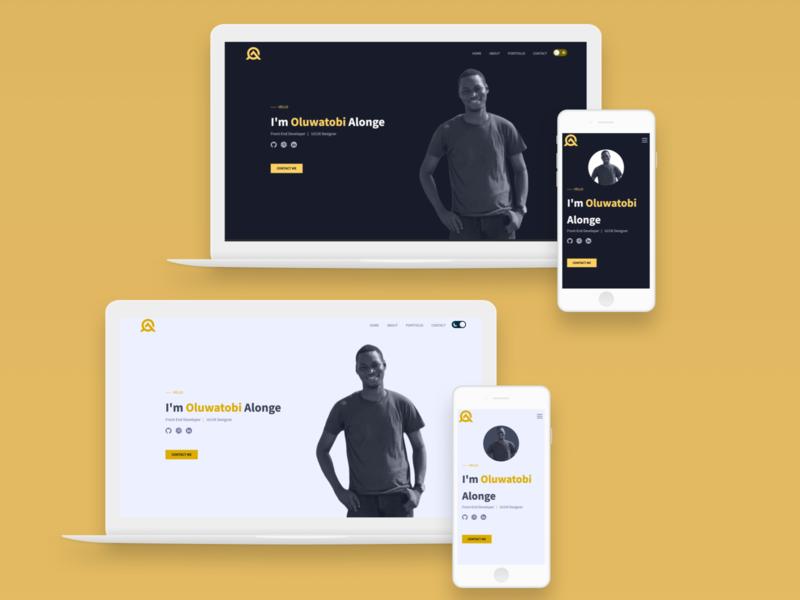 My Portfolio Dark and light mode website portfolio mobile ui mobile design sketch design