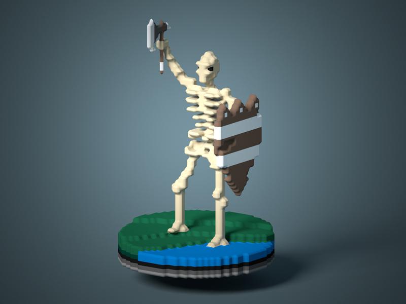 Skele magica voxel