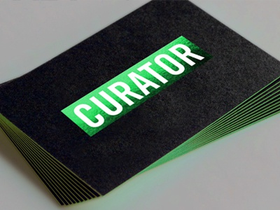 Curator cards