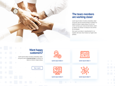Corporate website section