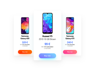 Mobile phones price charts for online store