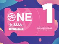 One Dribbble Invite