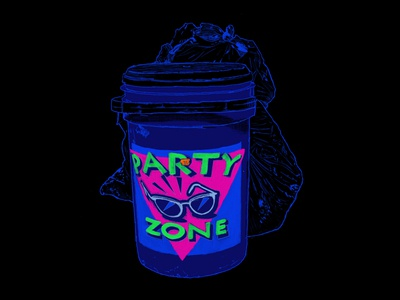 PARTY ZONE drawing procreate app illustration