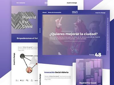 Concept- Home MadridChange | Un-official design tech madrid hackathon