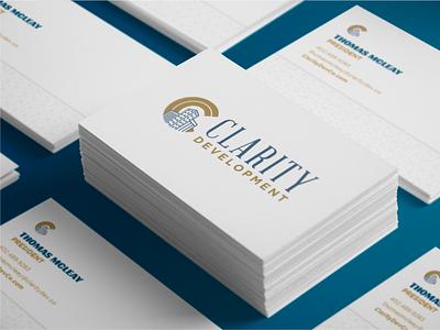 Clarity Development Logo Concept omaha logo identity design branding