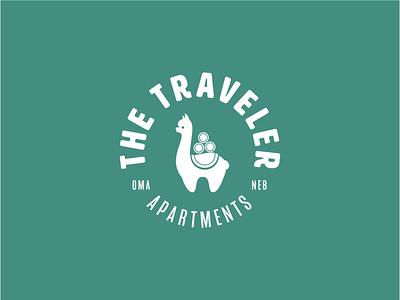 The Traveler Apartments Logo omaha identity branding design