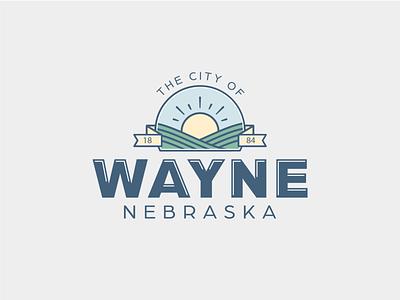 City of Waye nebraska logo identity branding design