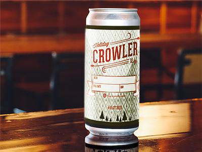 Blatt Beer Crowler branding local business local illustration omaha design