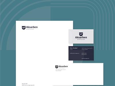 Aksarben Mortgage Stationery nebraska omaha businesscard stationery logo branding design