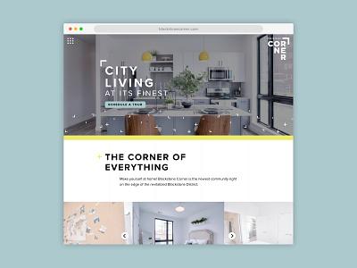 Blackstone Corner Website nebraska omaha apartment design ui  ux website design website