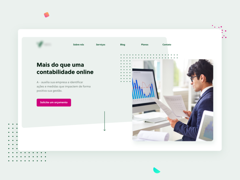 Contabilidade cover pattern accounting color website design company brazil modern design brand platform freelancer patterns branding landing page website web shot ui ux design