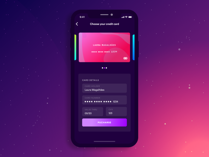 Credit Card btn purchase app concept dribbble typography branding shot master card buy form card credit card app illustration vector ux ui design daily ui 002 daily ui