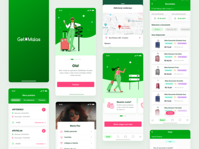 GetMalas passport bags travel ux vector daily ui design app ui