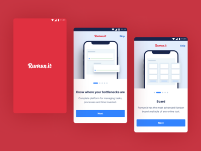 Runrun.it timer platform tasks project illustration ux app ui design