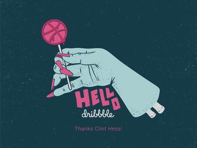 Hello Dribbble texture zombie rtj retrosupplyco lettering illustration hands