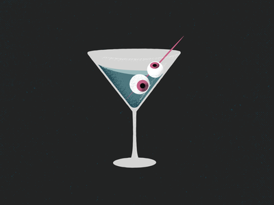Dirty Martini vector olives eyeballs monsters glass texture cocktail spooky martini halloween drink retrosupplyco vector illustration illustration