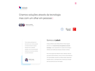Labsit branding strategy ux writing copywriting landing page design strategy ux research remote work software house technology startup responsive design ux ui landingpage
