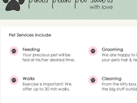 Services Page Layout