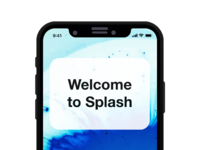 Splash sign up screen full resolution