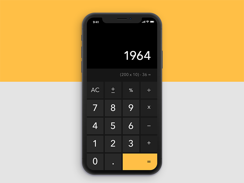 Daily UI Challenge #004 Calculator ux ui tokyo calculator japan dailyui challenge black