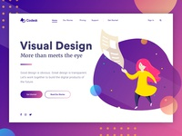 Landing page concept - Visual Design web universe stars galaxy space visual design ux user interface ui landing gradient colorful bright vector illustration characters