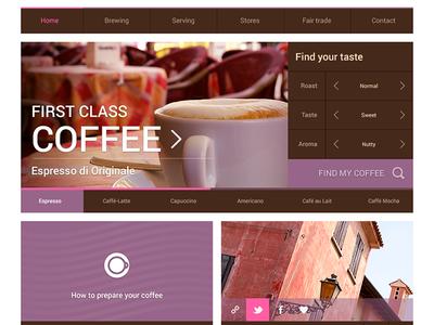 Flatpad Coffee PSD