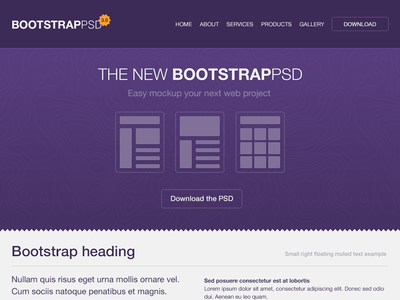 Bootstrap 3.0 PSD