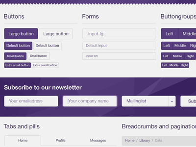 Bootstrap 3.0 PSD WIP buttons tabs form bootstrap psd freebie mockup