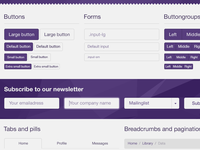 Bootstrap 3.0 PSD WIP