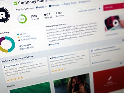 Freelancer Profile freelancer draft stats flat ui tab graphs contractor profile skills tools