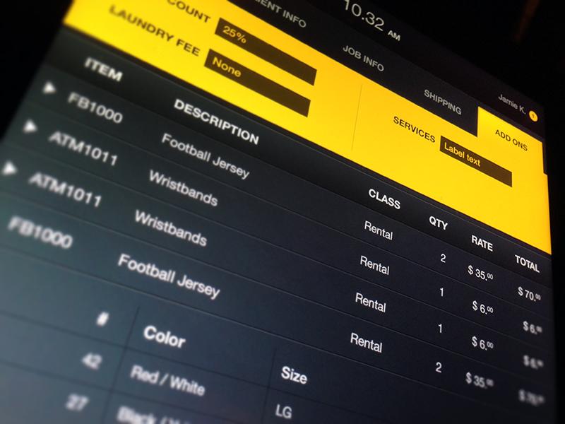 Sport iPad app sport app ipad tablet invoice ios