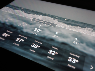 Hotelpad Weather vacation widgets ipad icons weather hotel room flat ui