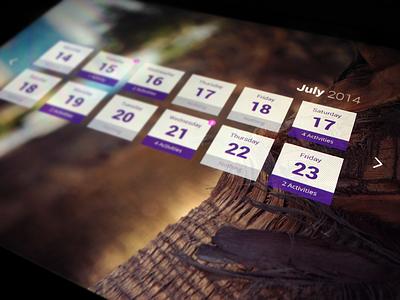 Hotelpad Calendar ui flat room hotel calendar ipad widgets vacation