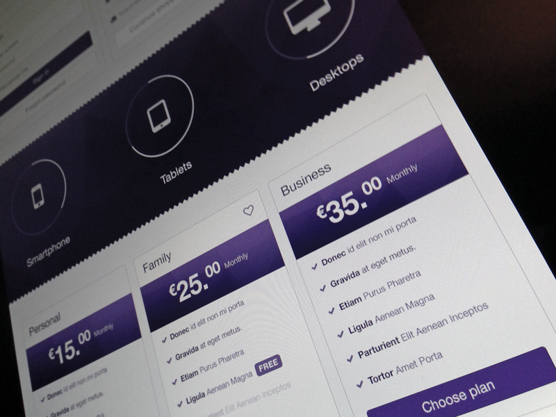 Bootstrap Pricing WIP online store pricing bootstrap psd freebie mockup shop charts stats tags labels