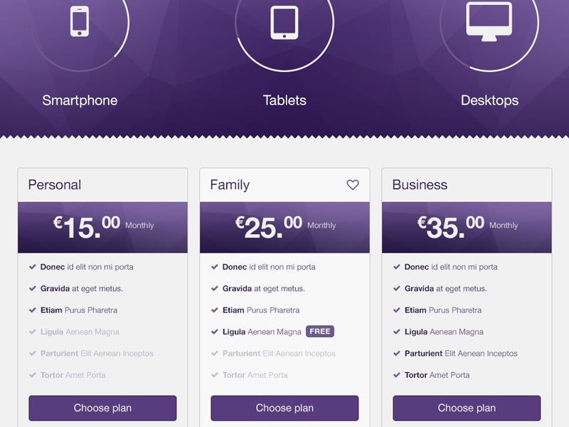 Bootstrap Pricing WIP labels tags stats charts shop mockup freebie psd bootstrap pricing store online