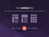 WiredPad Wireframe PSD