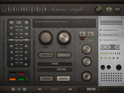 Radiopad Preview ui radiopad user interfaces radio audio