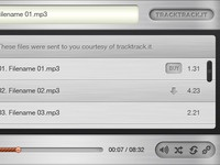 Tracktrack Music player