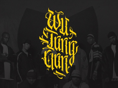 Wu-Tang Clan vector clothing logo print wutangclan wutang parallelpen calligraphy gothic lettering script
