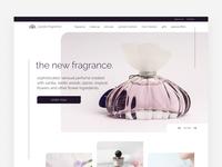 Perfume web shop - Home screen